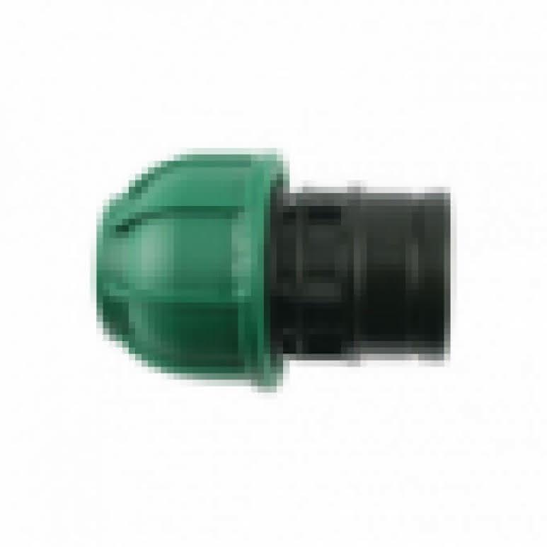 PE Kupplung 25mm Endstopfen - schraubar