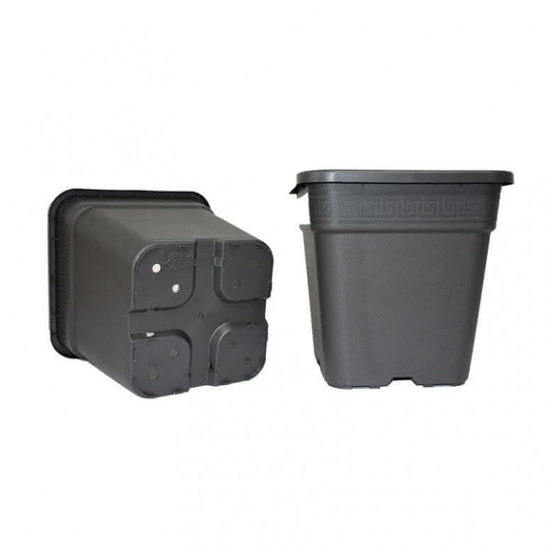 Topf / Pflanzcontainer 23x23x24cm eckig - 9 Liter