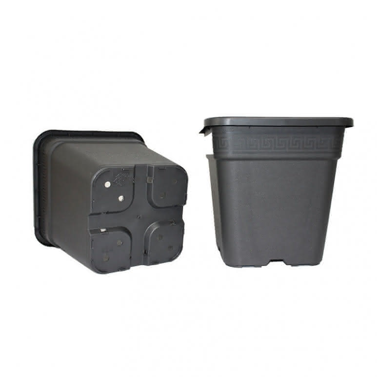 Topf / Pflanzcontainer 36x36x36,5cm eckig - 30 Liter
