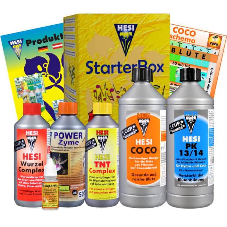 HESI Starterbox für Coco - 3610ml Düngerset