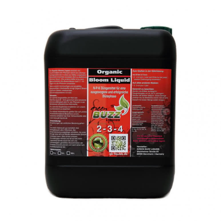 Green Buzz Liquids GBL Organic Bloom Liquid 10 Liter - Blütedünger organisch