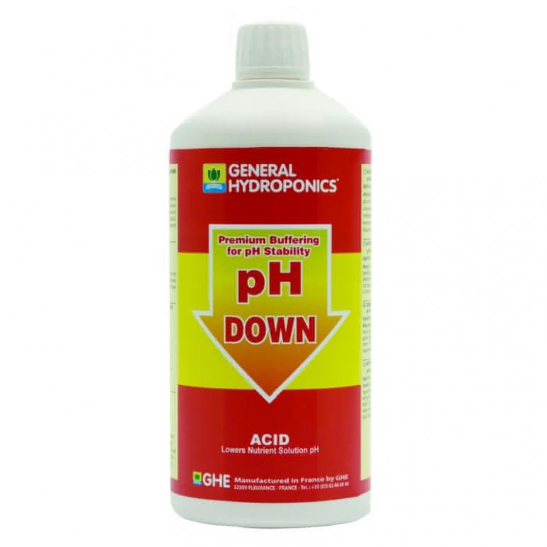 General Hydroponics GHE pH Down 1 Liter - pH-Regulator
