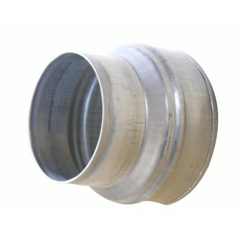 Reduzierstück / Verjüngung 160 auf 125mm - Stahlblech feuerverzinkt