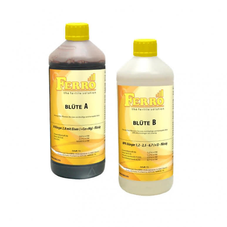 Ferro Standard A&B Blüte Erde / Hydro je 1 Liter
