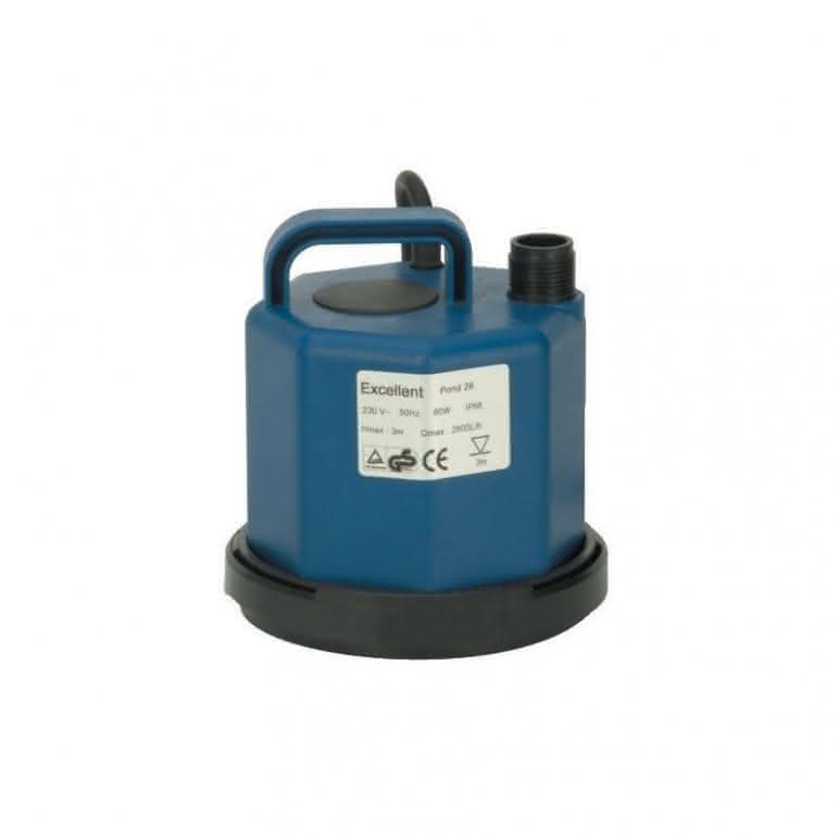 Tauchpumpe 2800 l/h - 0,25 bar flachsaugend - 80 Watt