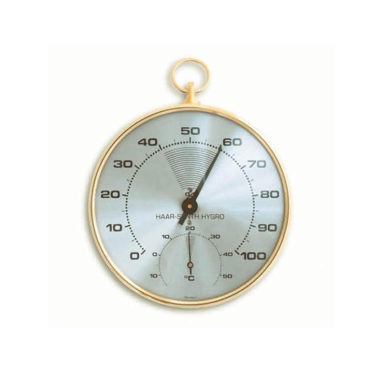 Faden-Thermo- und Hygrometer 102mm analog - Präzisionsinstrument