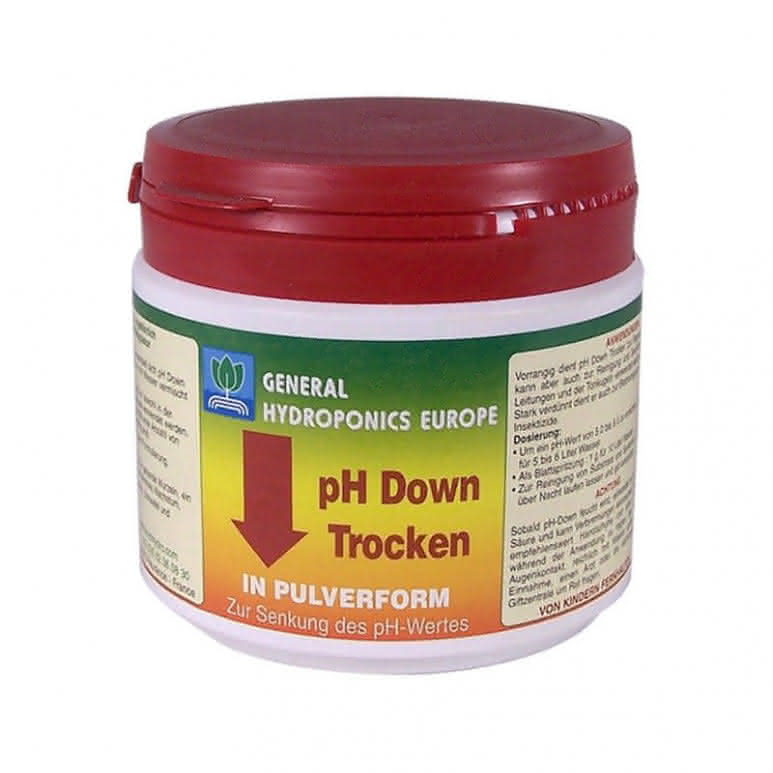 General Hydroponics GHE pH Down Dry 500g - pH-Regulator