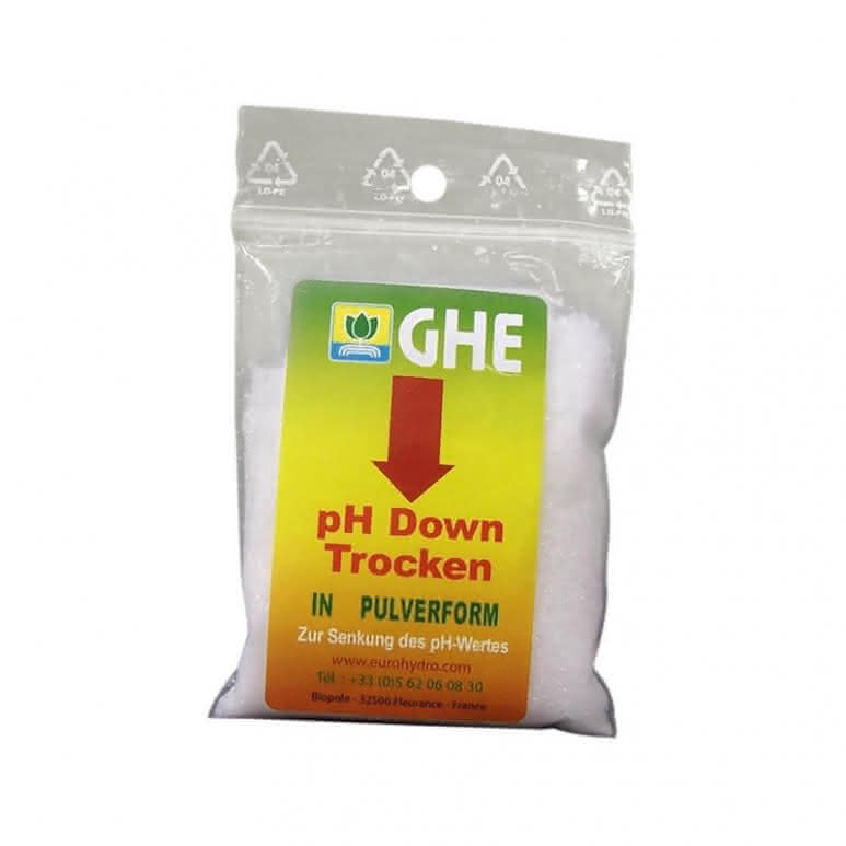 General Hydroponics GHE pH Down Dry 25g Beutel - pH-Regulator