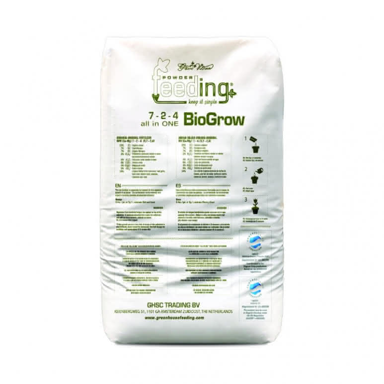 Greenhouse Powder-Feeding BioGrow 25kg