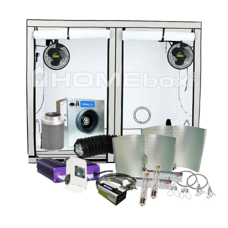 Growbox Komplettset NDL pro - 240x120cm - 2x600 Watt