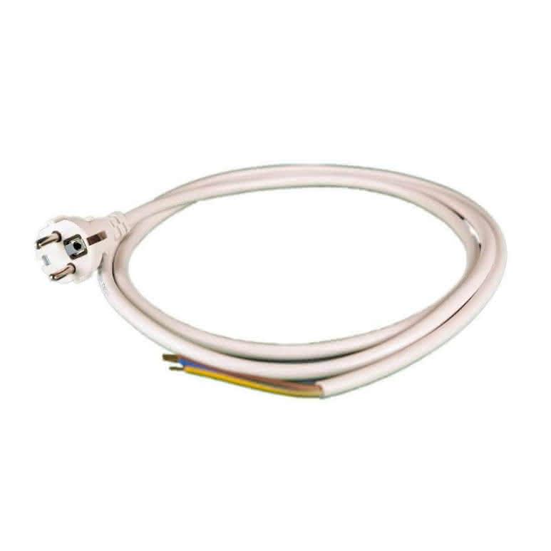 Netzanschlusskabel 3x1,5mm - 2 Meter inkl. Aderendhülsen und Eurostecker
