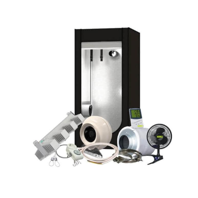 Growbox Komplettset LED - 80x80cm - 190 Watt