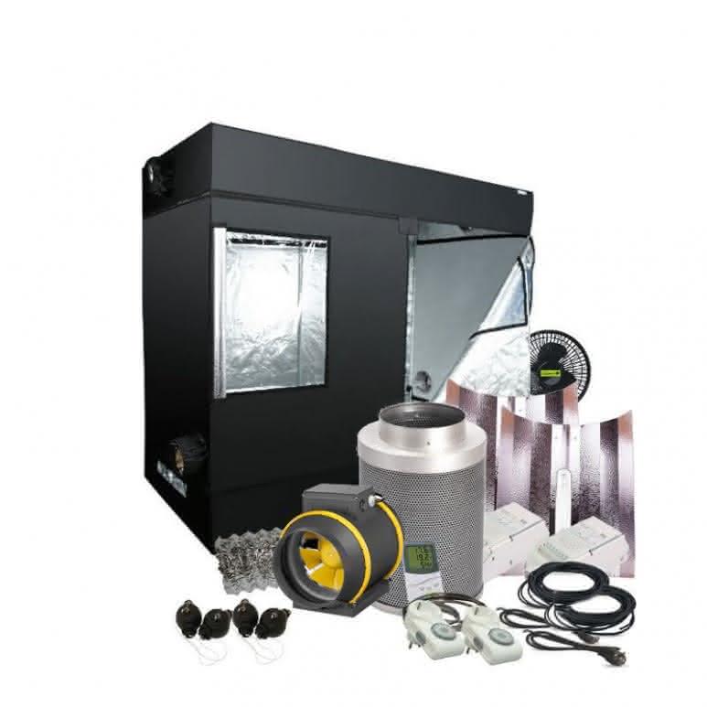 Growbox Komplettset NDL - 240x120cm - 2x600 Watt