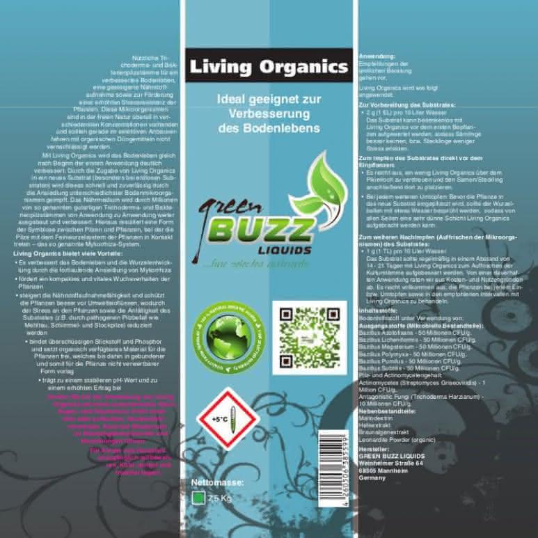 Green Buzz Liquids GBL Living Organics 75 Gramm Beutel - Trichoderma