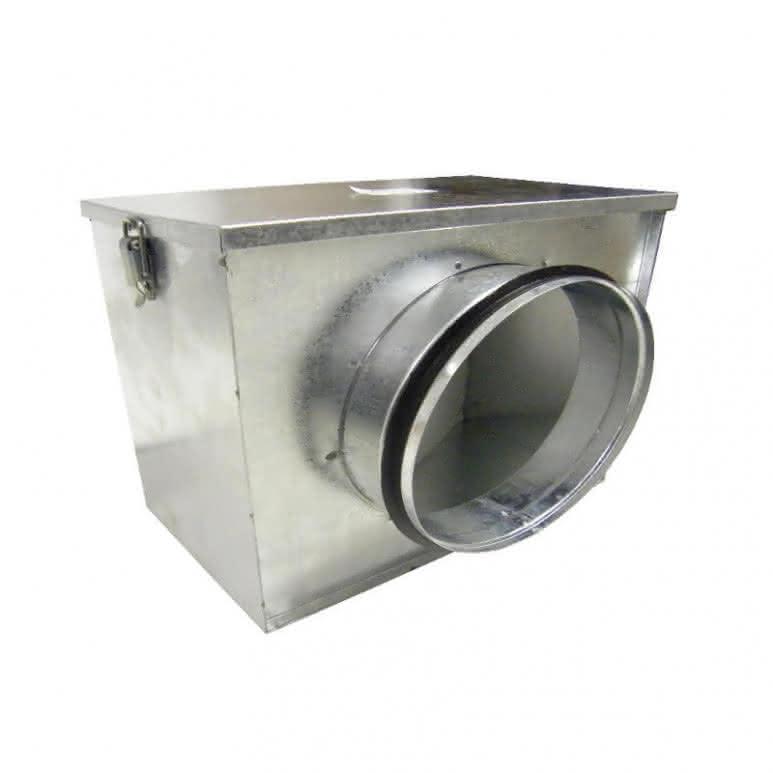 Luftfilterbox mit 2x 125mm Anschluss - inklusive Grobstaubfilter