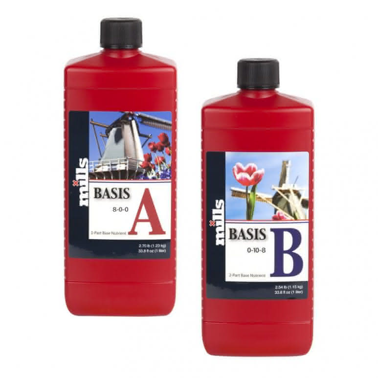 Mills Nutrients Basis A+B High Concentrated je 500ml - Basisdünger