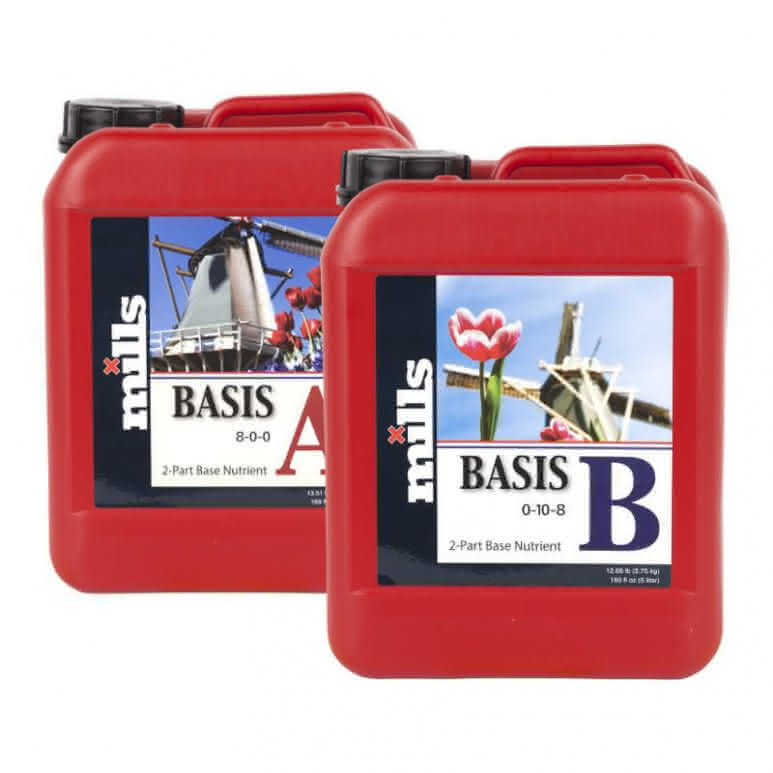 Mills Nutrients Basis A+B High Concentrated je 5 Liter - Basisdünger