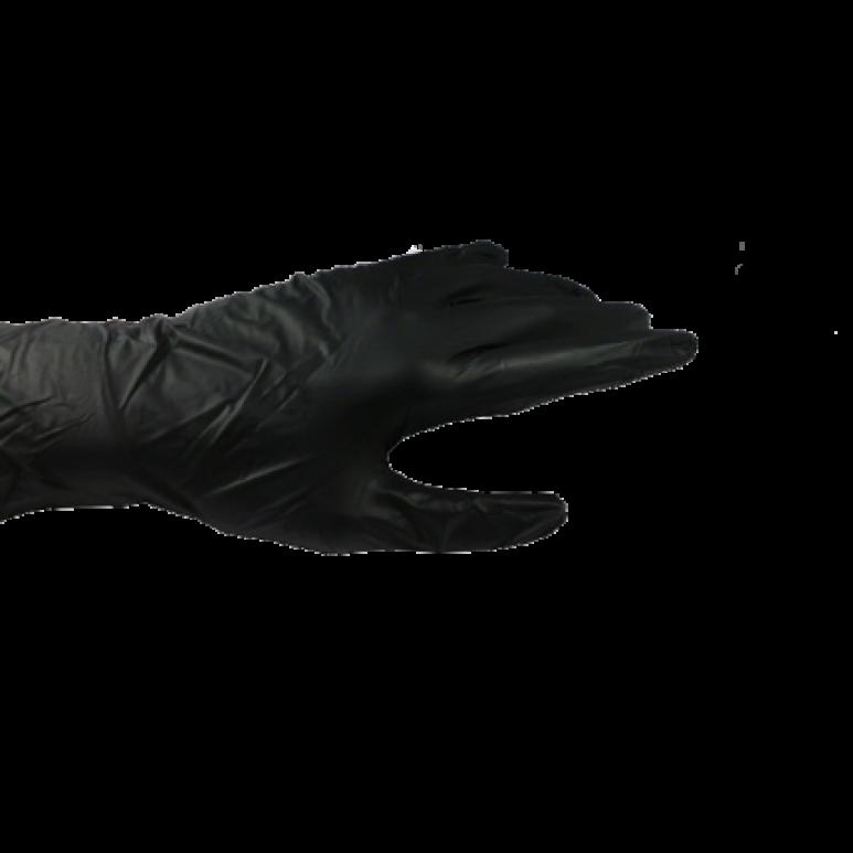 Nitril-Einweghandschuhe Typ 40 - Gr. L - schwarz - puderfrei