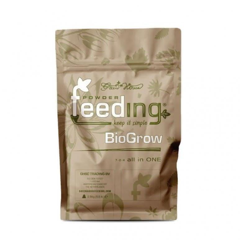 Greenhouse Powder-Feeding BioGrow 2,5kg - Wachstumsdünger biologisch