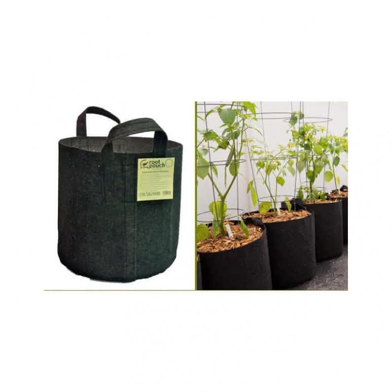 Root Pouch Pflanzentopf schwarz mit Griffen - 3,8 Liter