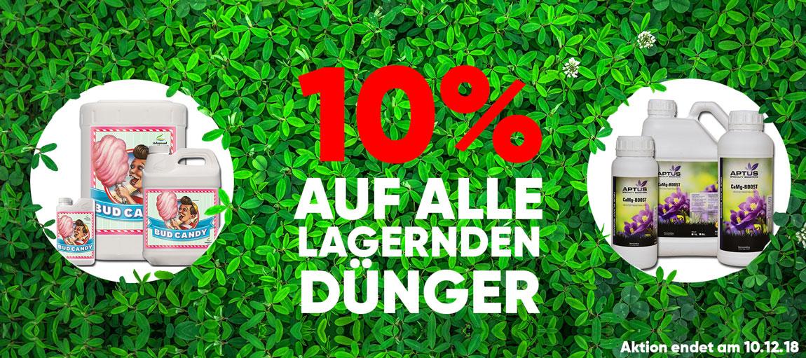 10% auf alle lagernden Dünger